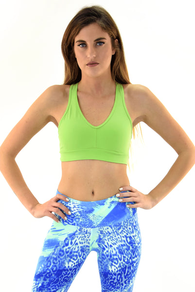 RIO GYM Cabana Bra - Green yoga wear for women