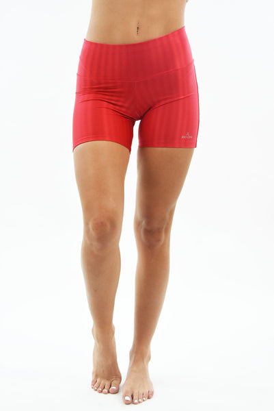RIO GYM Oregon Shorts - Red yoga wear for women