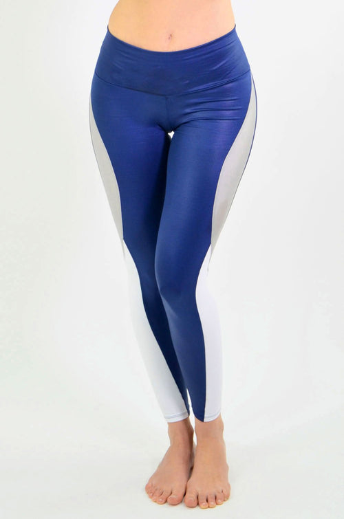 RIO GYM Nadia Metallic Navy Legging yoga wear for women