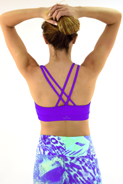 RIO GYM Sonia Bra - Purple yoga wear for women