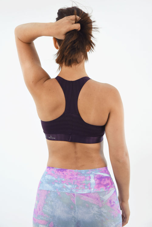 RIO GYM Ellie Oregon Bra - Purple yoga wear for women