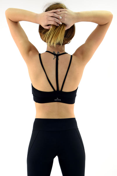 RIO GYM Lux Bra -Black yoga wear for women