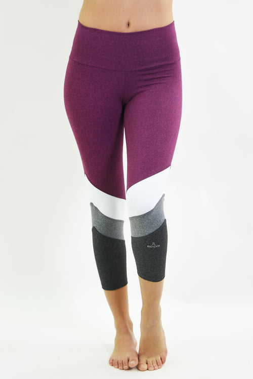 RIO GYM Naiara Capri - Bordeaux yoga wear for women