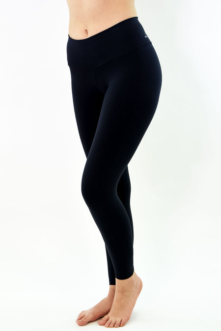 Ana Ruga Black Shiny Legging
