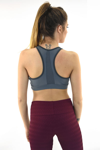 RIO GYM Cabana Bra - Grey yoga wear for women