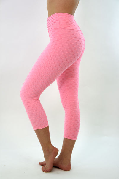 RIO GYM Ana Ruga Baby Pink Capri yoga wear for women