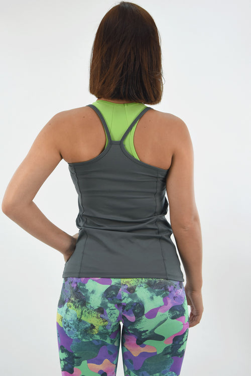 RIO GYM Paola Tank Grey yoga wear for women