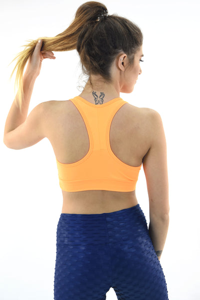 RIO GYM Ellie Bra - Orange yoga wear for women