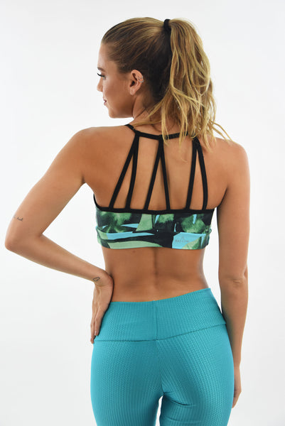 RIO GYM Kenny Bra -Tropical yoga wear for women