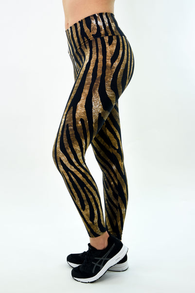 RIO GYM Zebra Brown Legging yoga wear for women