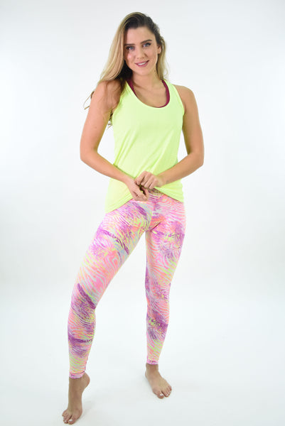 RIO GYM Leblon Tank Neon yoga wear for women