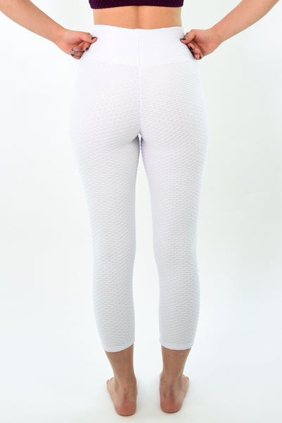 RIO GYM New Ana Ruga White Capri yoga wear for women