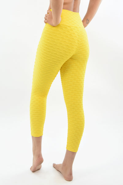 RIO GYM Ana Ruga Yellow Capri yoga wear for women