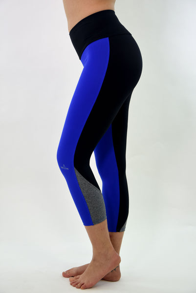 RIO GYM Glenda Blue Capri yoga wear for women