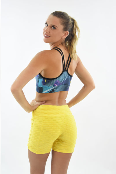 RIO GYM Ana Ruga Shorts - Ligth Yellow yoga wear for women