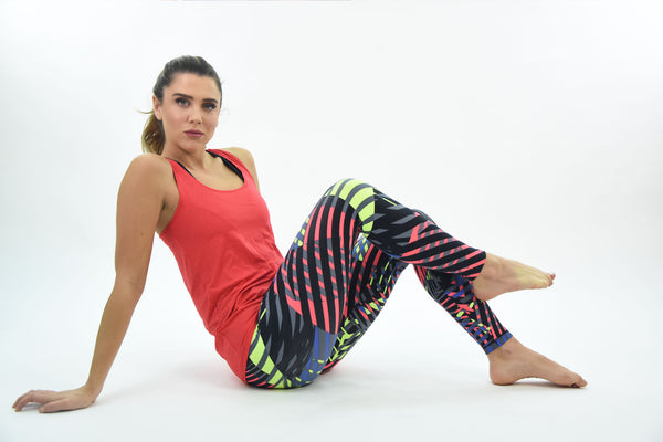 RIO GYM Leblon Tank Red yoga wear for women