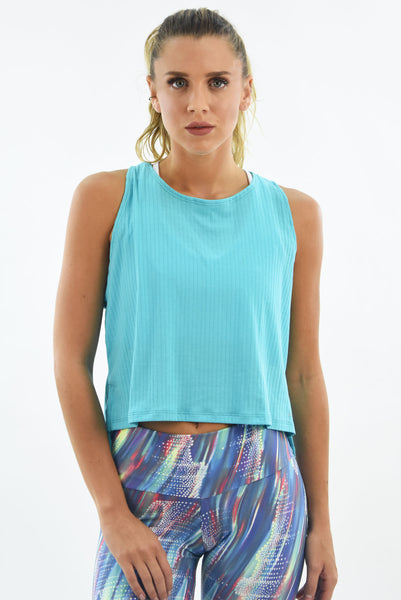 RIO GYM Alice Tank -  Baby Blue yoga wear for women