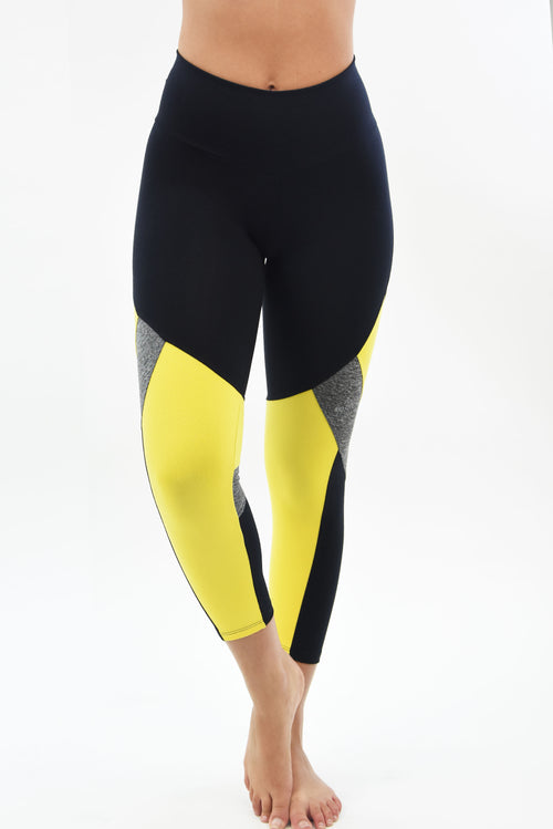 RIO GYM Vanessa Capri - Yellow yoga wear for women