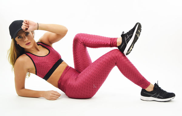 RIO GYM Ana Ruga Pink Shiny Legging yoga wear for women