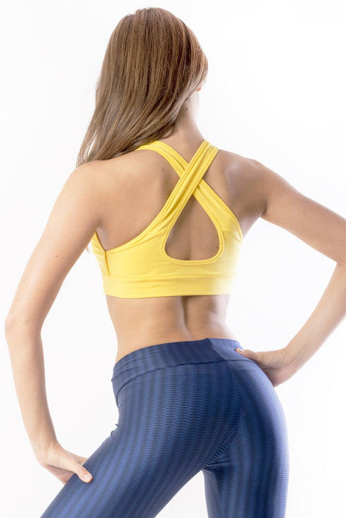RIO GYM Marbella Yellow Bra yoga wear for women