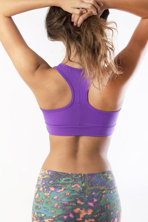 RIO GYM Ellie Bra - Purple yoga wear for women