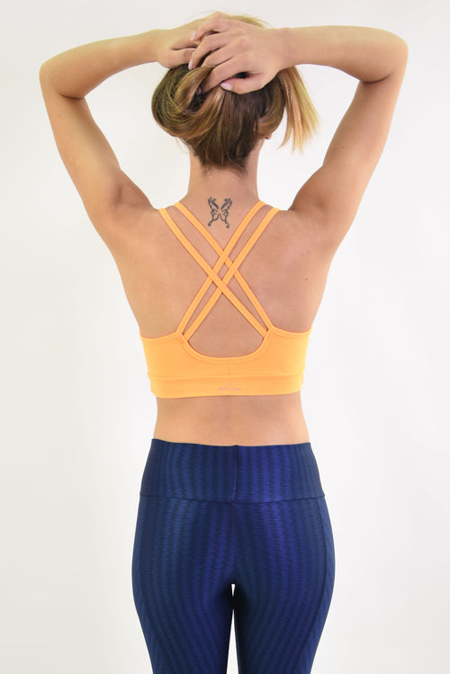 RIO GYM Lagoa Bra - Orange yoga wear for women