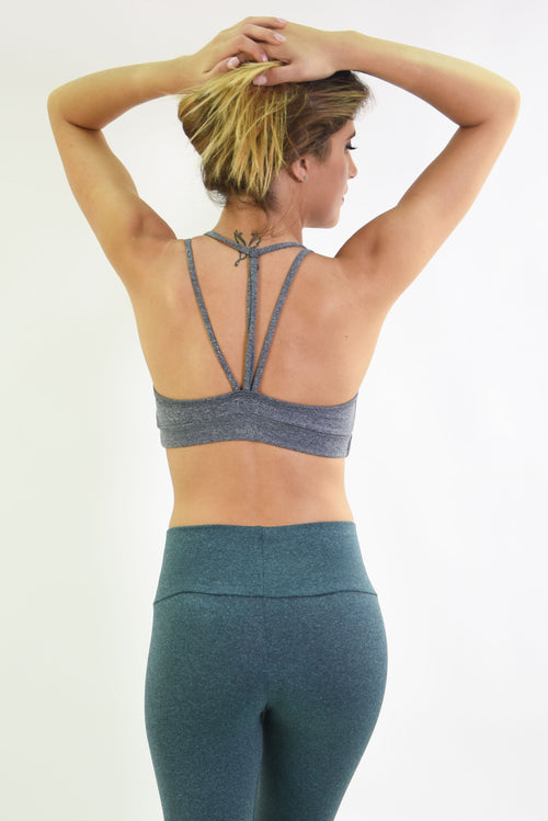 RIO GYM Lux Bra - Grey yoga wear for women