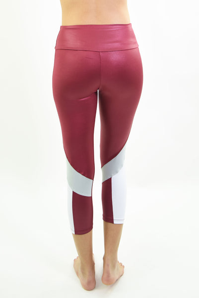 RIO GYM Nadia Bordeaux  Capri yoga wear for women