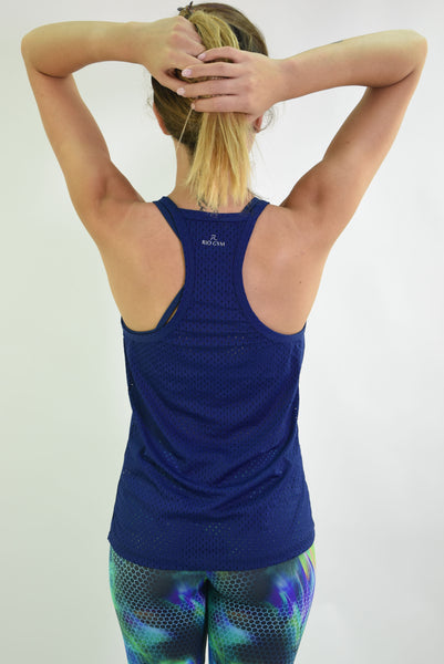 RIO GYM Arianna Tank - Navy yoga wear for women