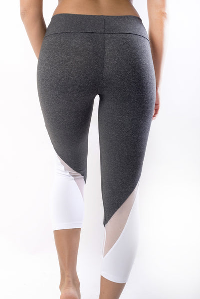 RIO GYM Billie Capri - Davy's Gray yoga wear for women