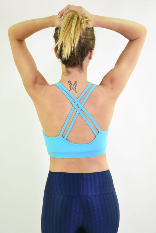 RIO GYM Lagoa Bra - Turquoise yoga wear for women