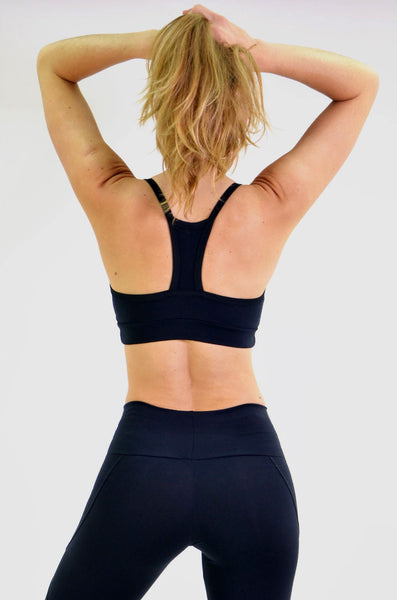 RIO GYM Iris Bra - Black yoga wear for women