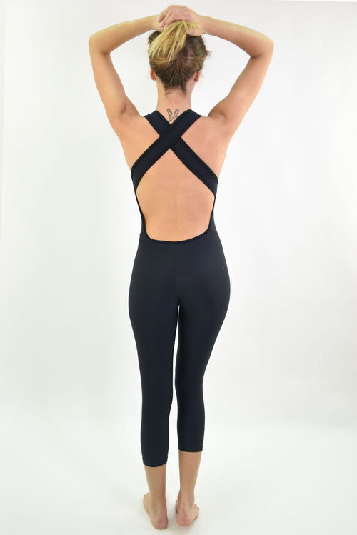 RIO GYM Bruna Jumpsuit - Black yoga wear for women