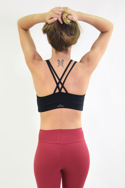 RIO GYM Lagoa Bra - Black yoga wear for women