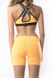 RIO GYM Freedom Shorts - Yellow yoga wear for women