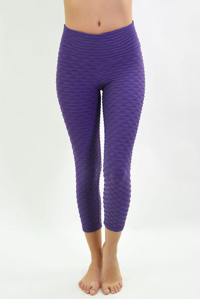RIO GYM Ana Ruga Purple Capri yoga wear for women