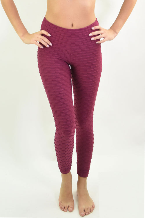 RIO GYM Ana Ruga Bordeaux Legging yoga wear for women