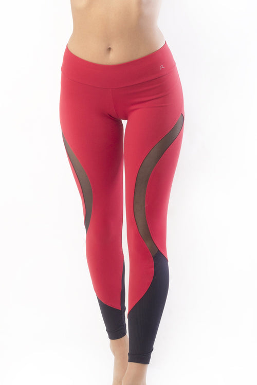 RIO GYM Bella Legging - Red yoga wear for women