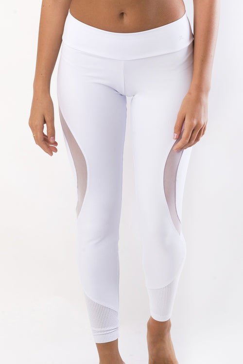 RIO GYM Bella Legging - White yoga wear for women