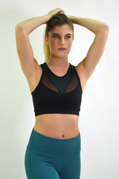 RIO GYM Karen Bra - Cotele Black yoga wear for women