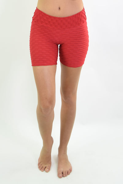 RIO GYM Ana Ruga Red Shorts yoga wear for women