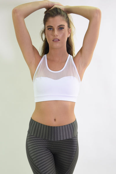 RIO GYM Ipanema Bra - White yoga wear for women