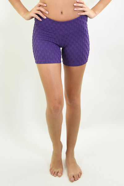 RIO GYM Ana Ruga Purple Shorts yoga wear for women