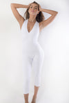 RIO GYM White Vivi Jumpsuit yoga wear for women