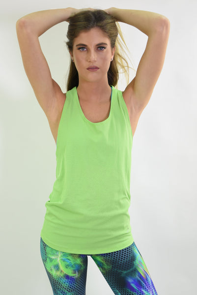 RIO GYM Jessica Tank - Green yoga wear for women