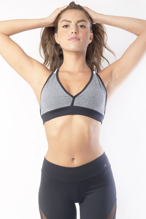 RIO GYM Marbella Grey Bra yoga wear for women