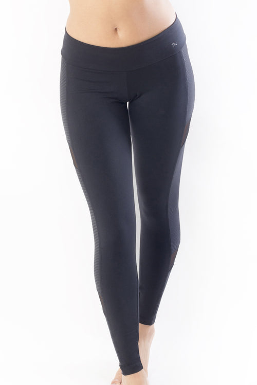 RIO GYM Camila Legging - Shiny Black yoga wear for women