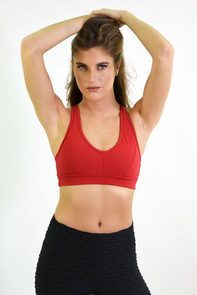 RIO GYM Cabana Bra - Red yoga wear for women