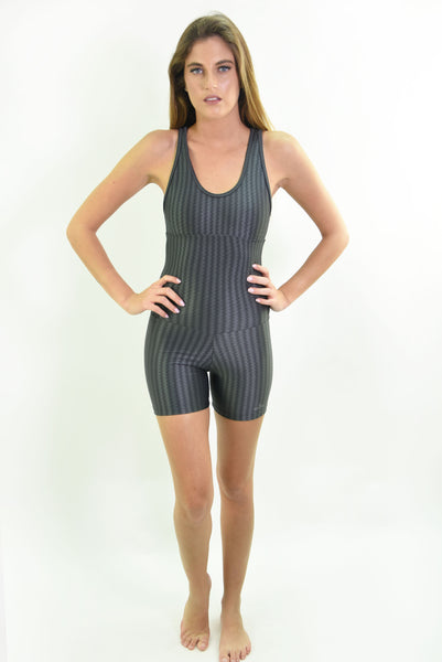 RIO GYM Oregon Shorts Jumpsuit - Grey yoga wear for women