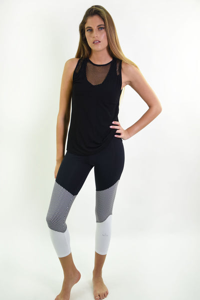 RIO GYM Fernanda Tank - Black yoga wear for women